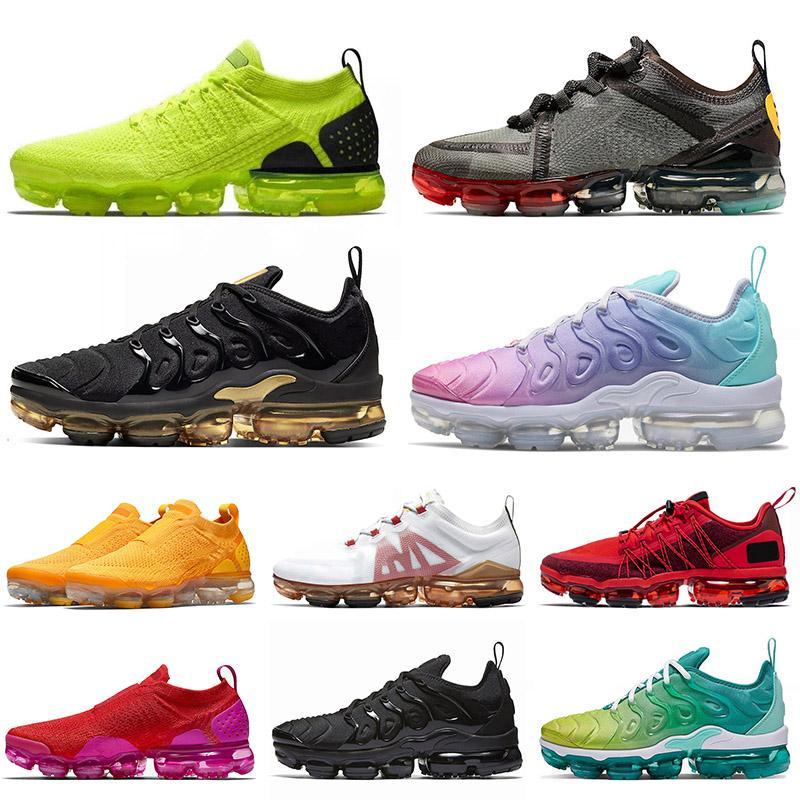 off white air vapormax plus tn flyknit Top 2020 Tn Plus grande taille 13 FLYKNIT chaussures de course baskets de sport Volt Pastel Triple noir hommes femmes formateurs de plein air