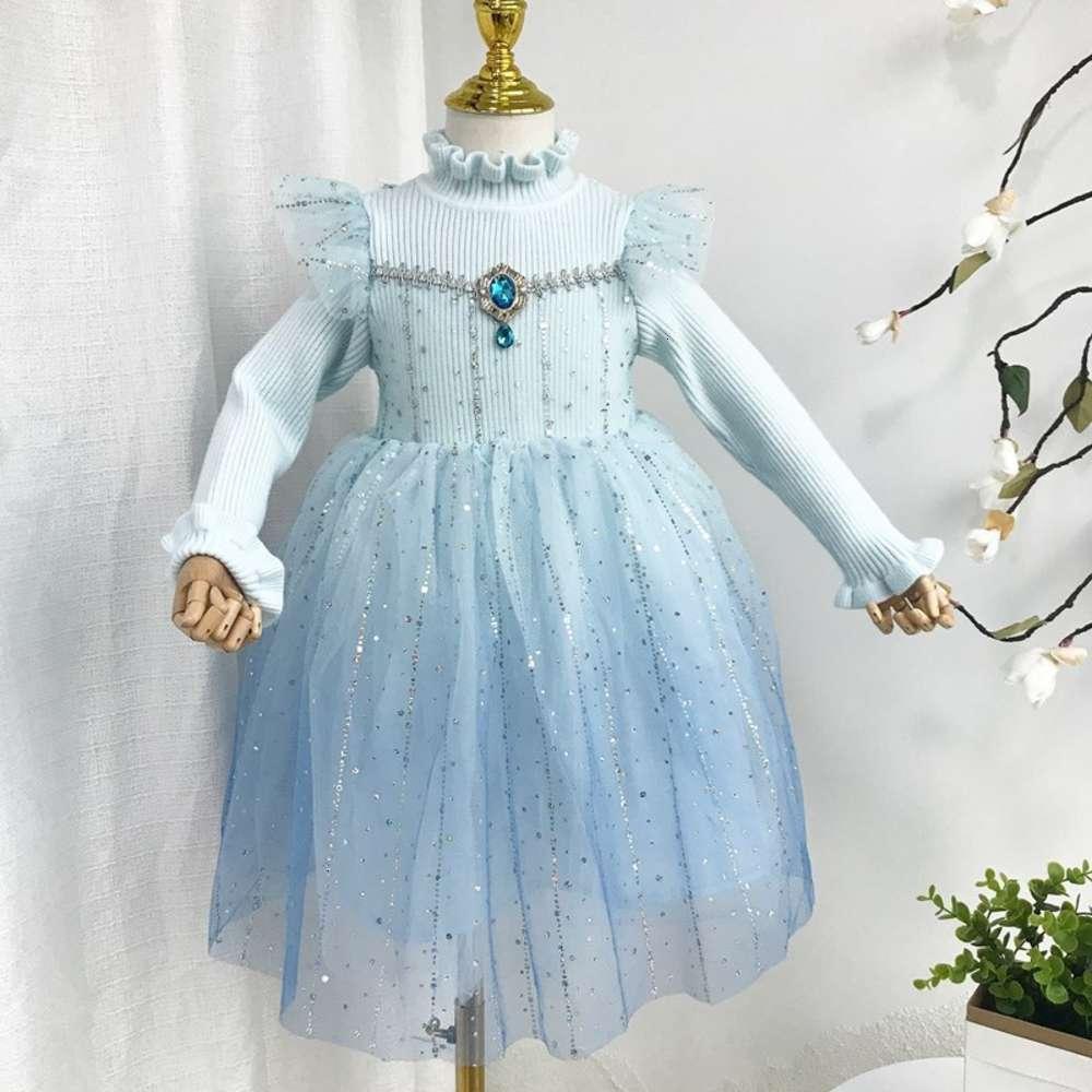 Automne des filles et mh coutures Aisha Laine Drs Shiny Princs Jupe d'hiver pour enfants