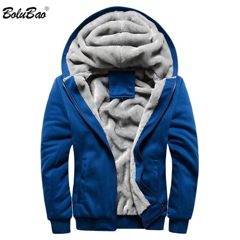 BOOLUBAO мода бренд мужские куртки осень зима новых мужчин плюс бархатная куртка утолщение мужской повседневная куртка с капюшоном пальто 201119