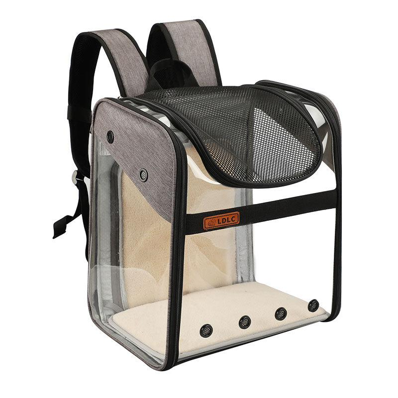 الكلب أو القط حقيبة الظهر الناقل مهواة شفاف طوي الشرب حقيبة النقل الجوية المعتمدة لجرو كلب أو قطة