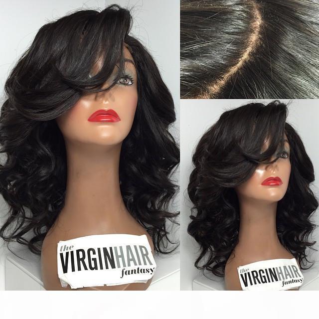 Meilleur de dentelle perruque de cheveux humains non transformés brésilienne corps cheveux vague Glueless de dentelle perruques avec des cheveux de bébé pour les femmes noires