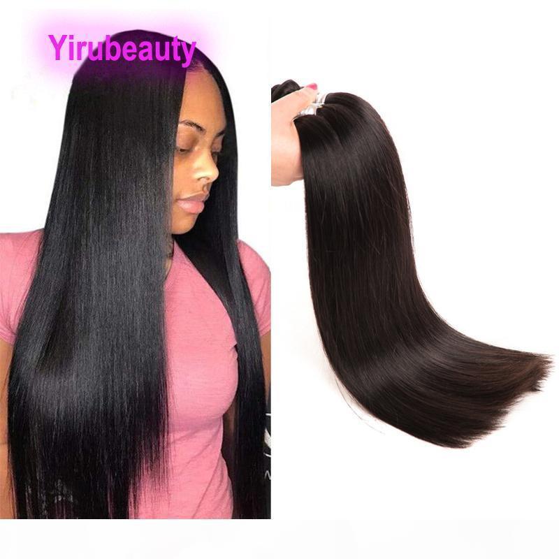 Бразильские REMY Наращивания волос Длинные дюйма 32-38 дюймов Кузовной Волна Прямой Натуральный Цвет 100% Виргинские Волосы Оптом Оптовая Три Части
