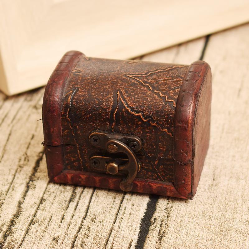 Europea estilo del mapa Caja de almacenamiento / Caja de madera retro / joyería de madera caja manual para hacer el viejo Organizador