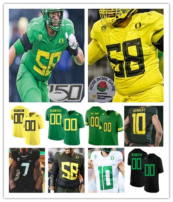 Faculdade 2020 Oregon Ducks Jersey Futebol Justin Herbert Mariota Noah Sewell Mycah Pittman Devon Williams Bryan Addison Kayvon Thibodeaux