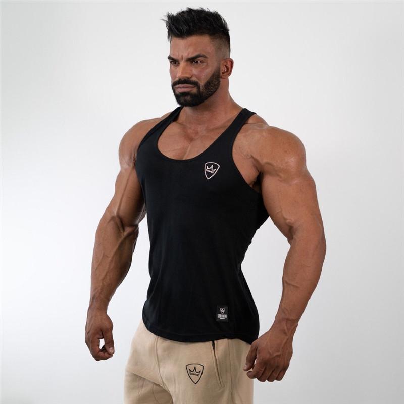 Herren-Oberteile Shirt Turnhalle Tank Top-Fitness-Kleidung Weste ärmellos Baumwolle canotte Bodybuilding ropa hombre Mann Kleidung tragen