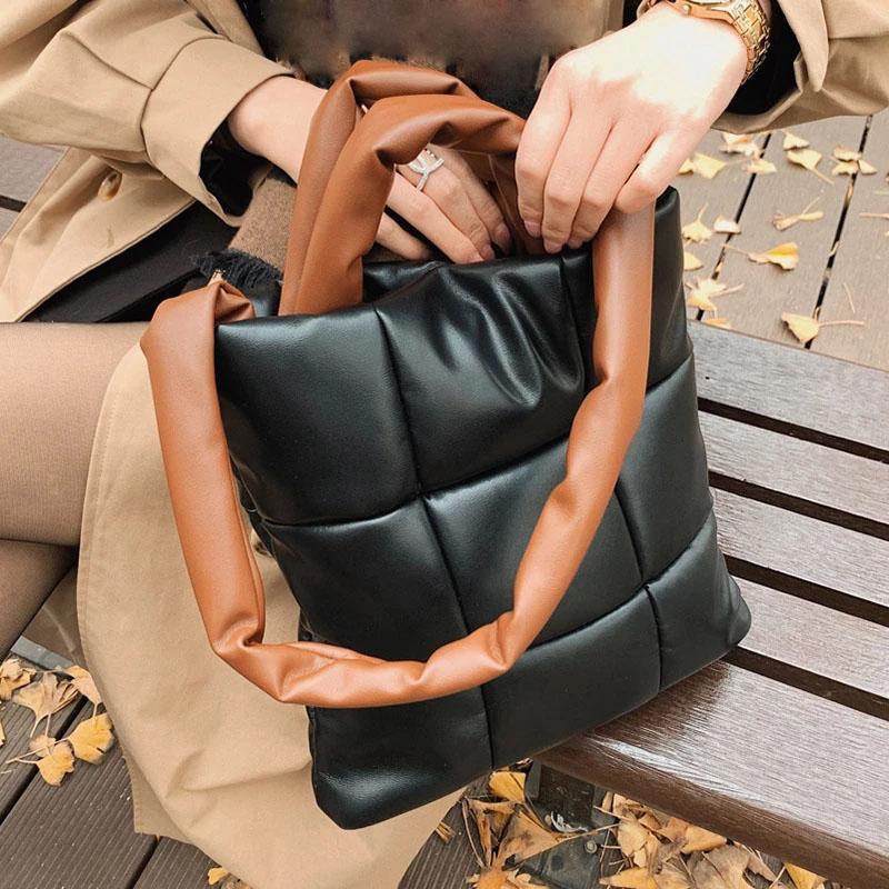 Moda Mulheres Down Ombro Bolsa De Luxo Designer Bolsa de Couro Macio Crossbody Sacos Elegante Feminino Armpit Embreagem Saco Bolsa