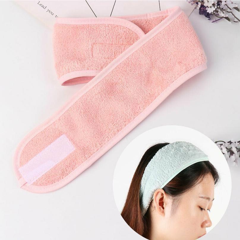 Kozmetik Wrap Tiara Türban Yüz Yıkama Ayarlanabilir Yoga Kadınlar Yüz Havlu Banyosu Hairband Makyaj BAHT Bantlar Spa Salon Acc Qylitm