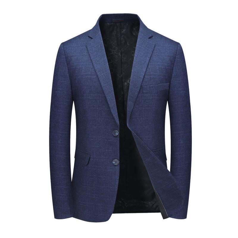 Abiti Blazer maschile a maniche lunghe risvolto a quadri Terno Masculino Autunno Business Leisure Costume Homme per gli uomini giacca slim fit Blazers
