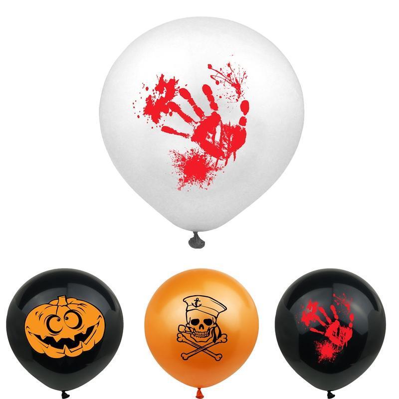Латексные шары Хэллоуин украшение Bloody Отпечатки 12 дюймов тыквы призрак череп украшение партии