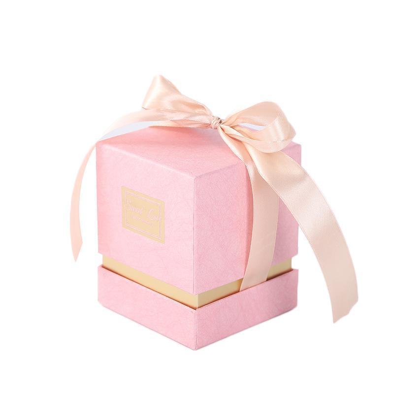 Nuovo arriva Large Size Quadrato Rosa favore del regalo di scatole di carta per Party Evento regalo bagagli Imballaggio e damigella d'onore Souvenir Box
