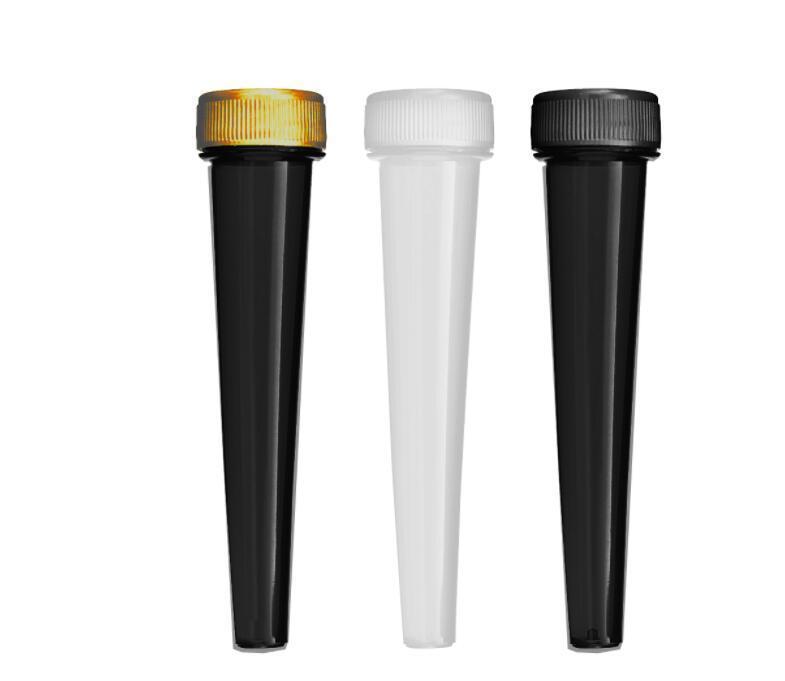 2021 Prefling Prefling Emballage 98mm 120mm Tubes coniques noirs clairs avec des capuchons pour enfants DHL DHL Livraison