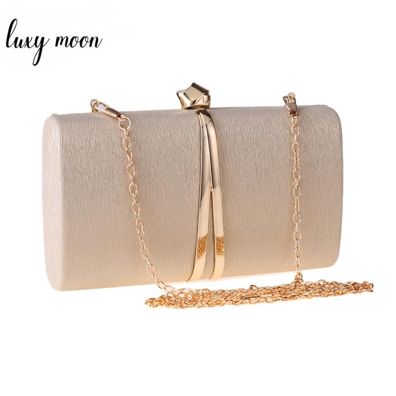 Damenabendkupplung Tasche Geldbörsen und Handtaschen Party Clutch Crossbody Taschen für Frauen Kette Umhängetasche Silber schwarz ZD1382 201204