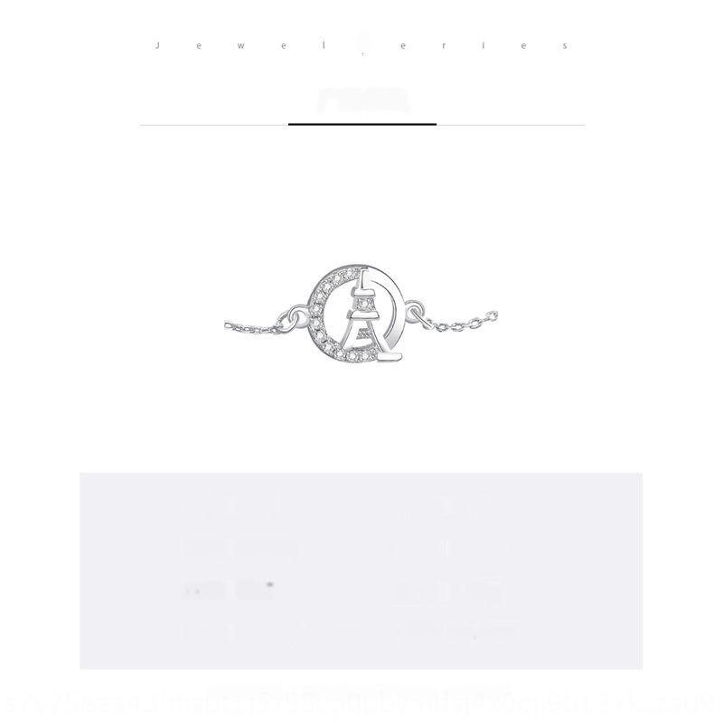 Damela S925 Sterling Silber Paris Turm weibliche geometrische Kreis Mikro Intarsien Armband braceletbracelet bracelethand Ornament höhlt uo