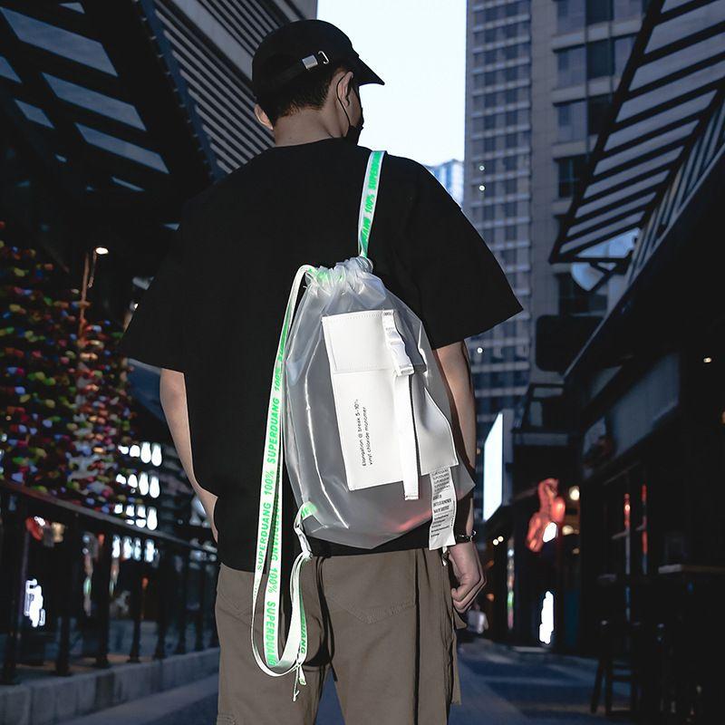 Fashion Trend Men Drawstring 2020 New Multi-funcional, Lazer Sports Academia Saco, Schoolbag, da Women Backpack C1111
