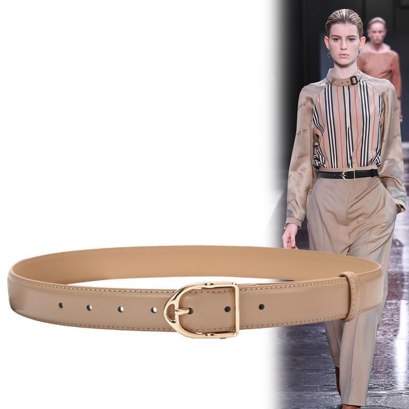 Ceintures pour femmes en cuir véritable alliage d'or Pin boucle de ceinture New Leisure Jeans HOT casual robe décorez bracelet en peau de vache fille waistbands