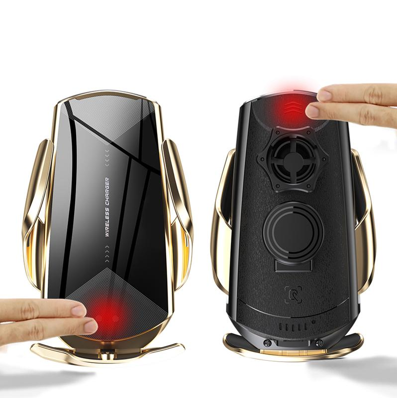 뜨거운 Q2 스마트 센서 자동차 무선 충전 홀더 QI 10W 빠른 충전기 휴대 전화 홀더 스탠드