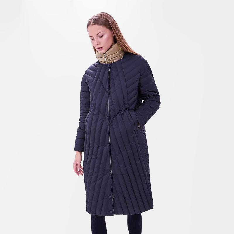2020 Nova acolchoado Primavera Autum Casaco Parka Windproof Fina Mulheres Long Plus Size 6XL alta qualidade Aqueça Cotton Casacos Marca