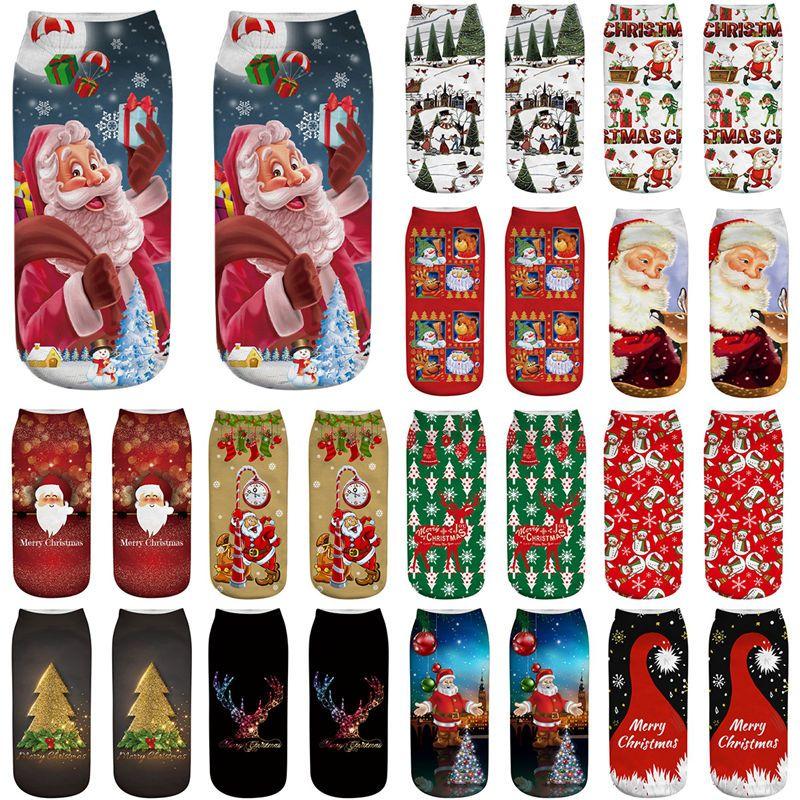Хлопок Рождество носки Рождеством украшения для дома Рождественские подарки Cristmas украшения Noel Новый год Kerst Natal Navidad 2020