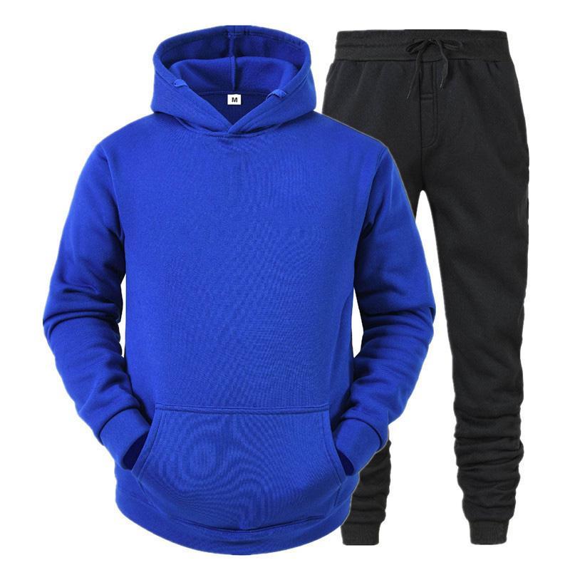 Christine pour homme Ensembles automne et hiver Sweats à capuche de couleur unie + pantalon Sport Hommes Converses Sweatshirts occasionnels Marque Sportswear