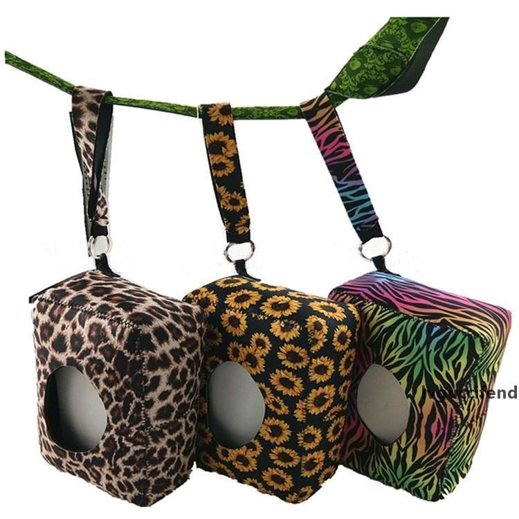 Дайвинг материал ткани коробка горячей продажи леопардовый подсолнечник зебра печатная детская мокрый ткань коробки открытый туристические коробки T9i00187