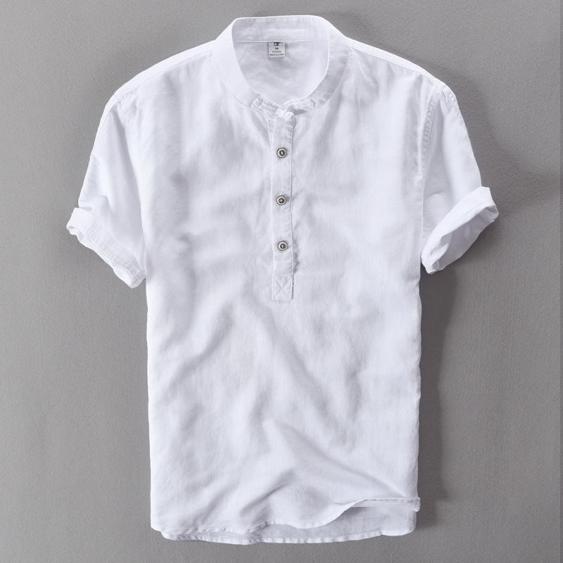 Camicie casual da uomo Bella estate respiri a maniche corte