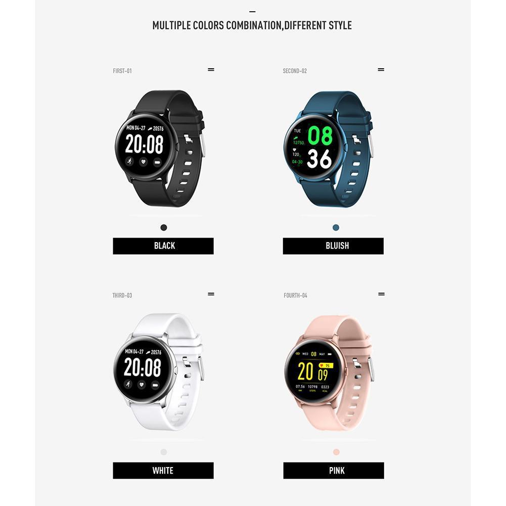 KW19 Akıllı İzle Su Geçirmez Kan Basıncı Kalp Hızı Monitörü Spor Izci Spor Akıllı Bileklikler Andriod IOS için Perakende Kutusu Ile