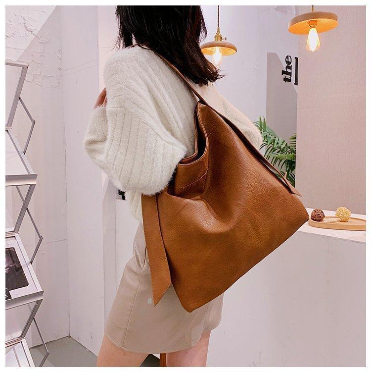 Borse a tracolla in pelle PU vintage per donne borse di lusso donne tote borse designer benna a spalla a grande capacità