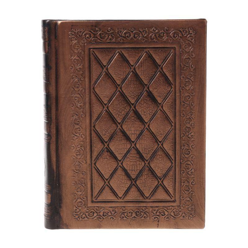 المفكرة الرجعية خمر مجلة يوميات دفتر الجلود فارغة غطاء الصلب كراسة الرسم القرطاسية سفر هدية دروبشيب