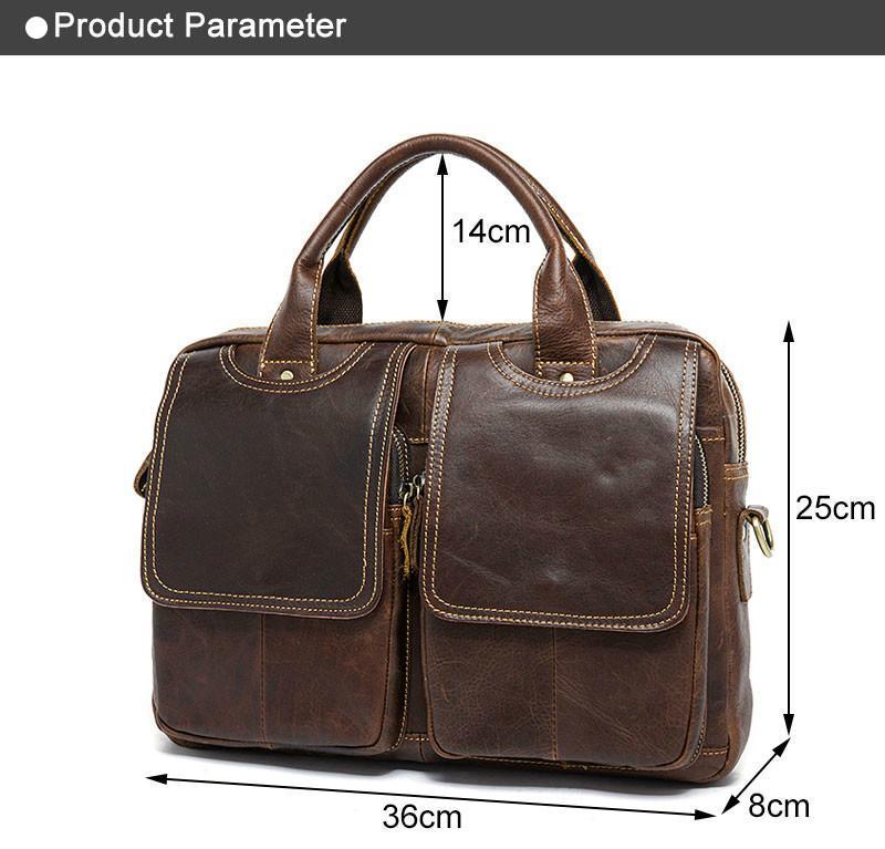 Подлинный портфель мужские сумки сумки сумка сумка повседневное crossbody ноутбук мужская кожаная ноутбук 14 '' Messenger Buashs Bey Men Tjnjc