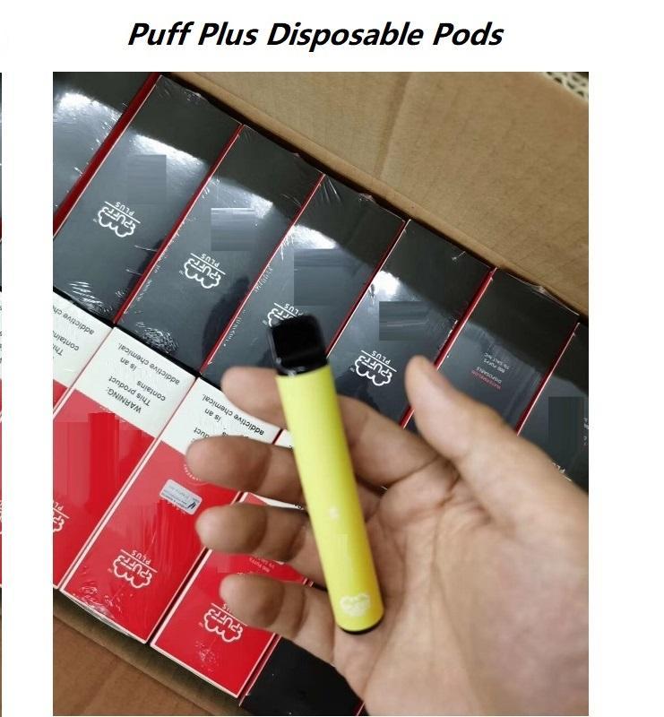 Top PUFF BAR PLUS 500+Puff Disposable Pod Cartridges 450mAh Battery 3.2mL Pre-Filled Vape Pods e Cigarette Portable Vaporizers Device Vapor