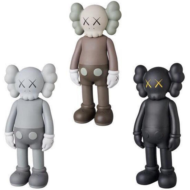 20 cm mini bambola design moderno arte smlll bugia originale falso companion giocattolo azione figure figure in PVC graffiti azione giocattolo figura statua luminosa Kaws