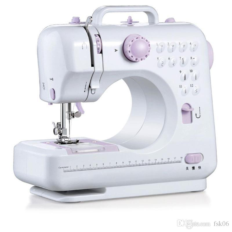 Portable Sewing Machine 7.2W Mini Electric Home Electric Sewing Machine Hand-Held Purple White ABS Automatic
