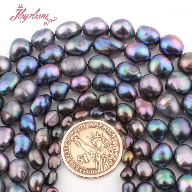 """5-7 / 8-9 / 9-10mm batata natural irregular de água doce pérola pedra natural grânulos para DIY mulheres colar pulseira jóias fazendo 15 """"1"""