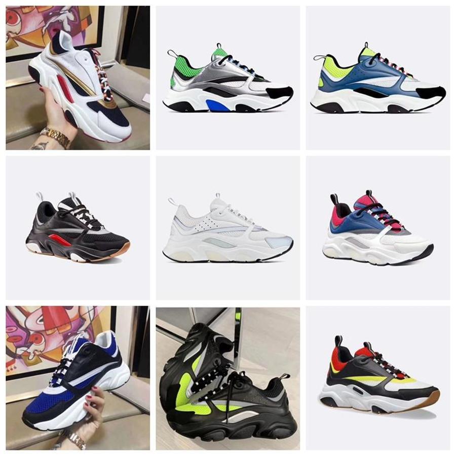 Réfléchissant B22 Chaussures de sport en cuir vachette Formateurs Classique Hommes Femmes Chaussures plates en cuir Sneaker 2020 Retro Patchwork Luxe espadrille
