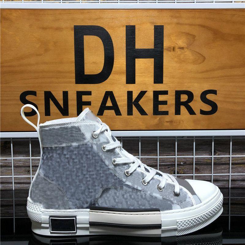 최고 품질 B 22 23 높은 낮은 상위 비스듬한 꿀벌 남성 여성 Luxurys 디자이너 신발 패션 쌍 기술 가죽 야외 플랫폼 캐주얼 신발