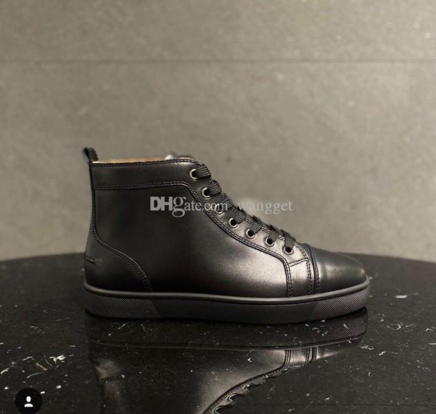 Nice Quality Homens Mulheres Sapatos Vermelho Bottom Sneakers Genuíno Couro Azul Veludo Fishnet Glitter High Top Top Tear Calçado 35-47 Desconto