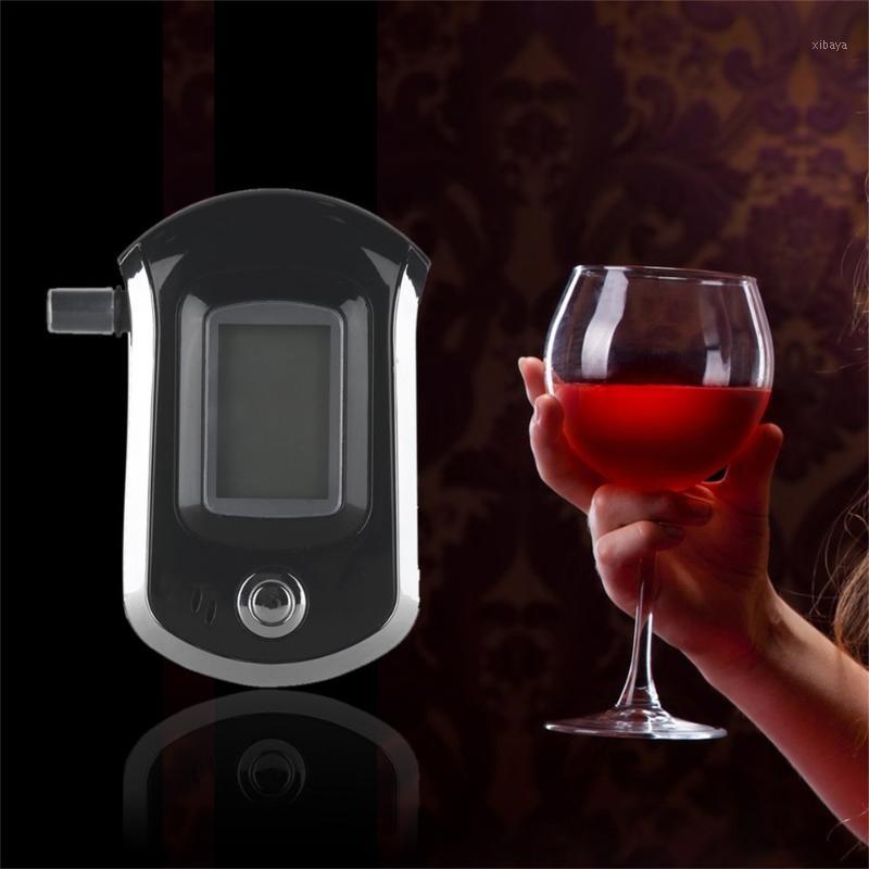 Profesor de alcohol Professional Digital Breathalyzer analizador de aliento con pantalla LCD digital grande 5 PCS Boachpieces1