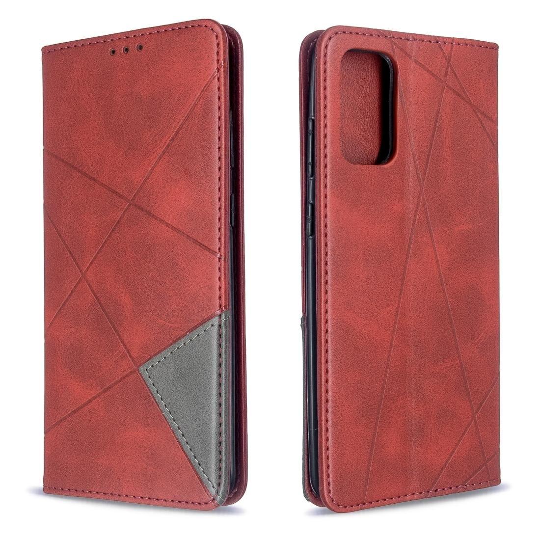 Pour Galaxy S20 Rhombus Texture Retournement horizontal magnétique étui en cuir avec porte-carte Machines à sous