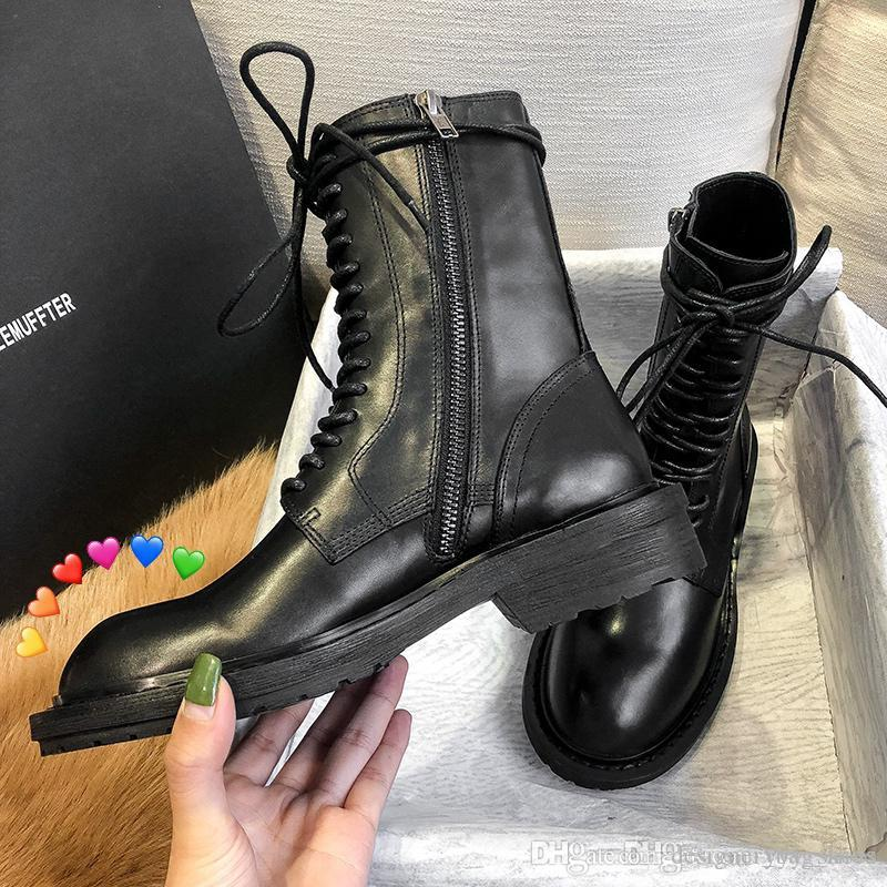 Moda desinger Un botas agudos zapatos para mujer grils zapato negro bota del tobillo botas de Martin dedos del pie del talón grueso del envío gratis