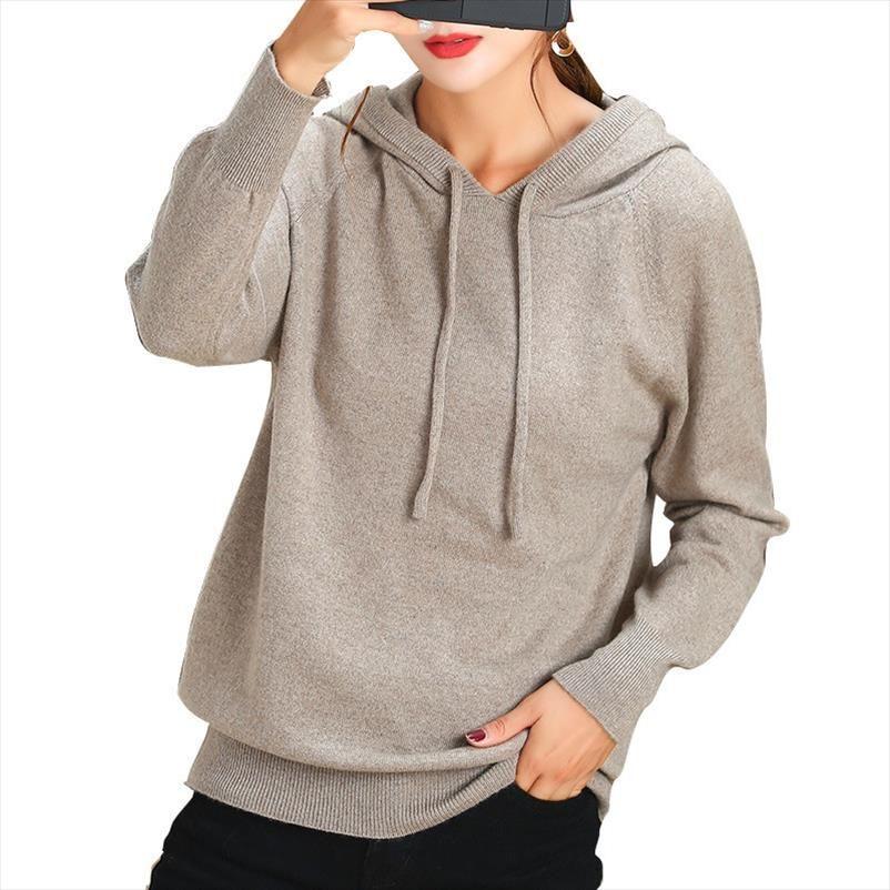 Suéter de cachemira sudadera 2020 otoño invierno suéter de punto ocasional de las mujeres de Corea del Estudiante Puentes Jersey envío de la gota