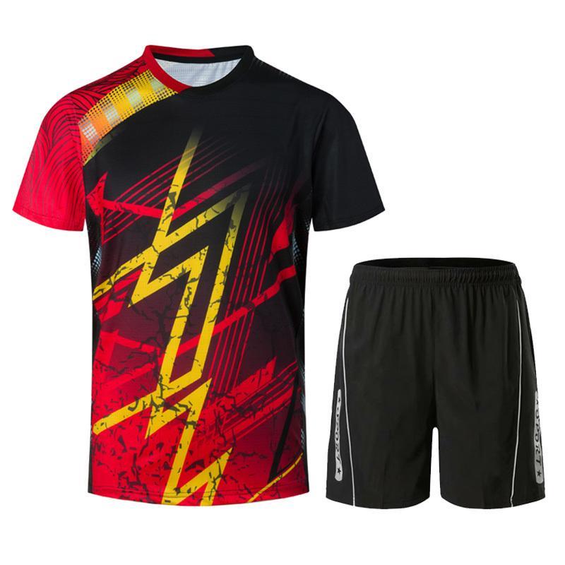 Nuovi vestiti di volano per gli uomini o le donne, vestiti da ping-pong, badminton sport shirt + volano pantaloncini allenamento sportivo T-shirt 1820