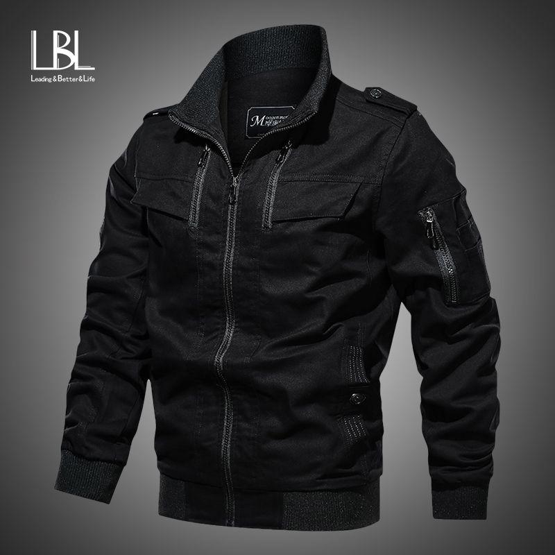 Bombardero 2019 chaqueta informal chaqueta de algodón para hombres piloto militar para hombre de la cremallera abrigos Ejército de los hombres de la chaqueta de las chaquetas de carga Vuelo masculina del invierno de 1111