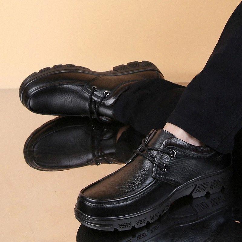 Кроссовки платформа натуральная кожаная сетка спортивные кроссовки шнурок густой нижний наружный скольжение на тренажерах обувь повседневные мужчины # 5F54