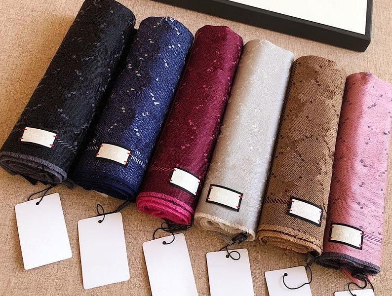 Scialle della sciarpa di lana 100% di lana per gli uomini e le donne Best Quality Designer Classic Lettera Stampa Inverno Spessa calda sciarpe pashminas uomo sciarpa regalo