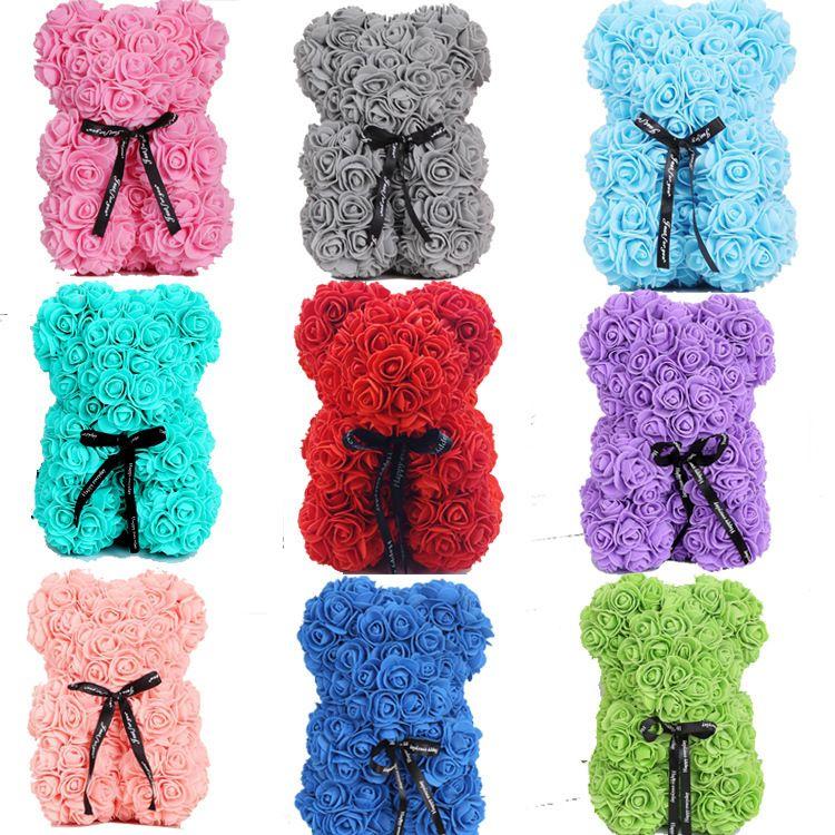 Новый Вид Святого Валентина подарок PE розовый медвежонок игрушки фаршированные, полные любви романтические плюшевые мишки кукла милая подруга дети девушки подарки
