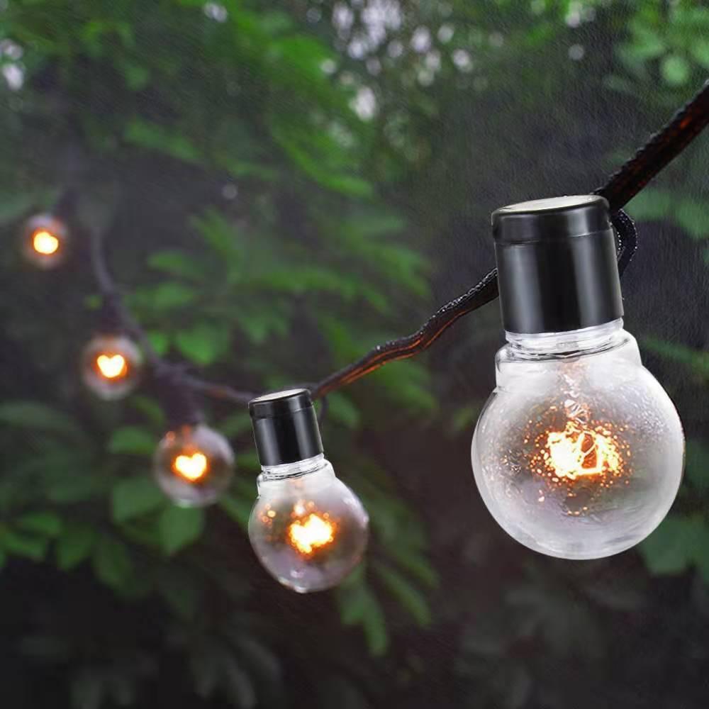 5M 10M bola de luces LED cadena de globo y bulbo G50 Hada Luz Cadena fiesta de la boda de la guirnalda del jardín del patio al aire libre de la decoración de Navidad