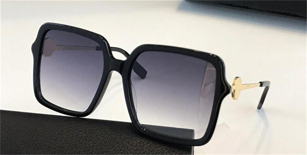 New Fashion Design Sunglasses 4357 Tempiale quadrato Tempio in metallo Popolare e generoso Occhiali protettivi UV400 UV400 Top Quality
