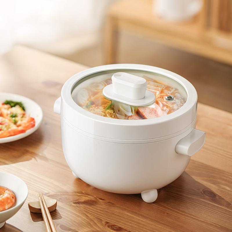 2L multi-função multi-função grande capacidade de arroz elétrico fogão 700W non stick potenciômetro quente cozinhar e fritar pote integrado