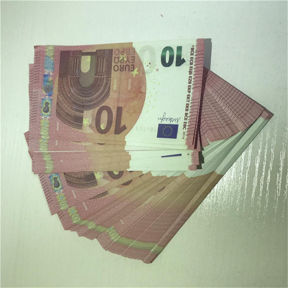 Niños Dinero falsificado Dólar LE10-40 Props Bar Bar Bet Euro Ticket Faux Toy Regalo Prop Libra Moneda Billet Wesb