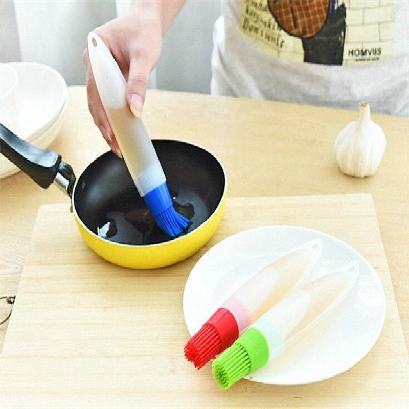 1 Pc Silicone Baking Brushs Liquid Oil Pen Cake Butter Bread Pastry Brush Baking Tool BBQ Utensil Safety Basting Brush tiym#